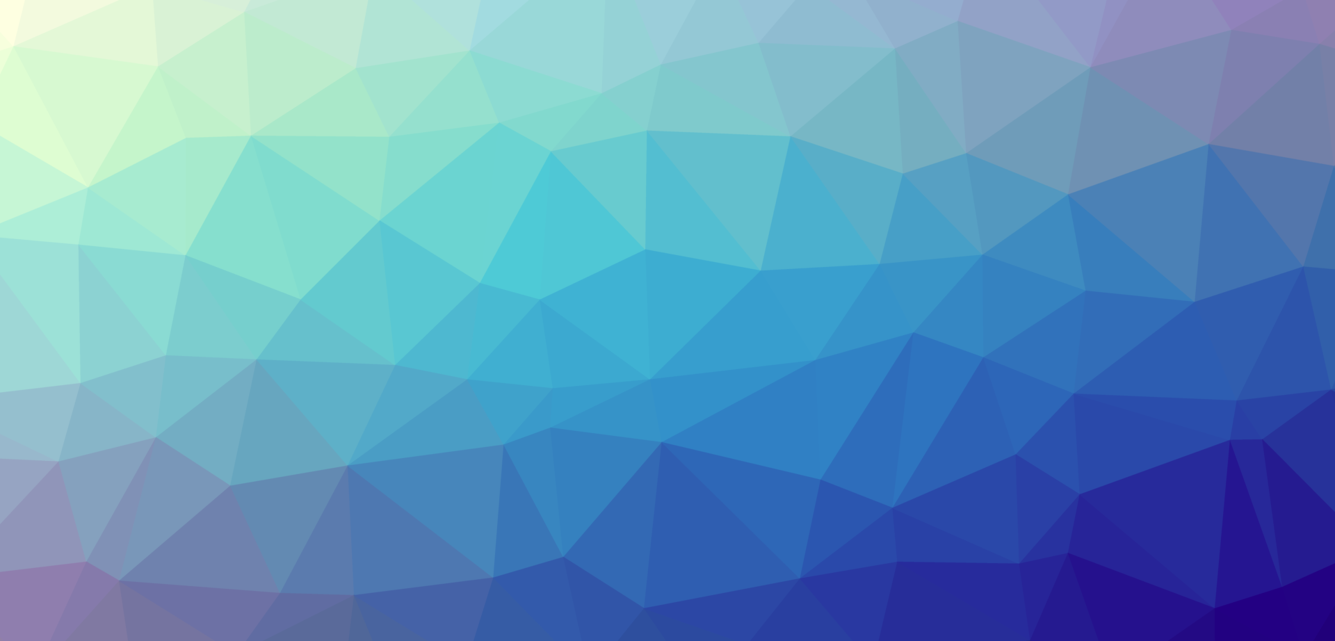 Abstract triangles in varied colours