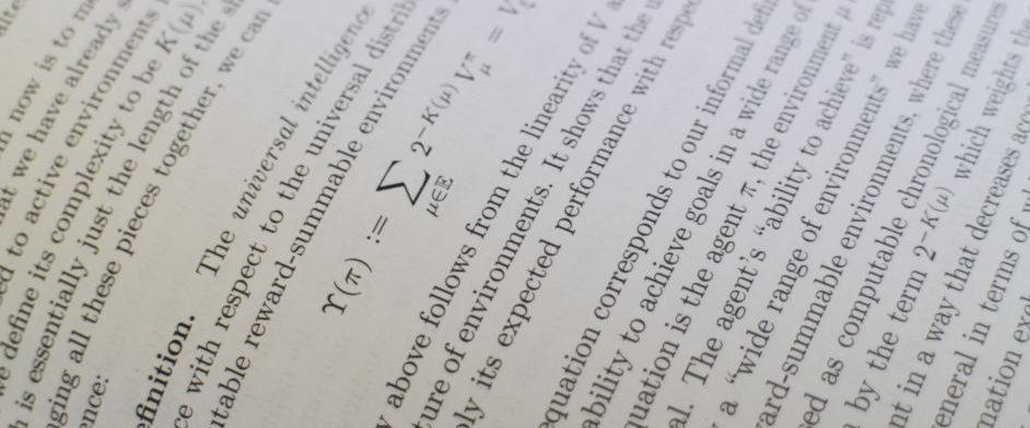Superintelligence definition equation