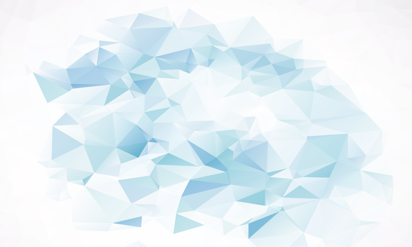Abstract triangles in different shades of light blue