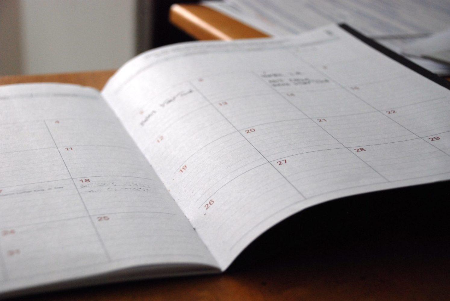 open diary book